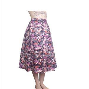 Sam Edelman Sheer Overlay  Organza Midi Skirt